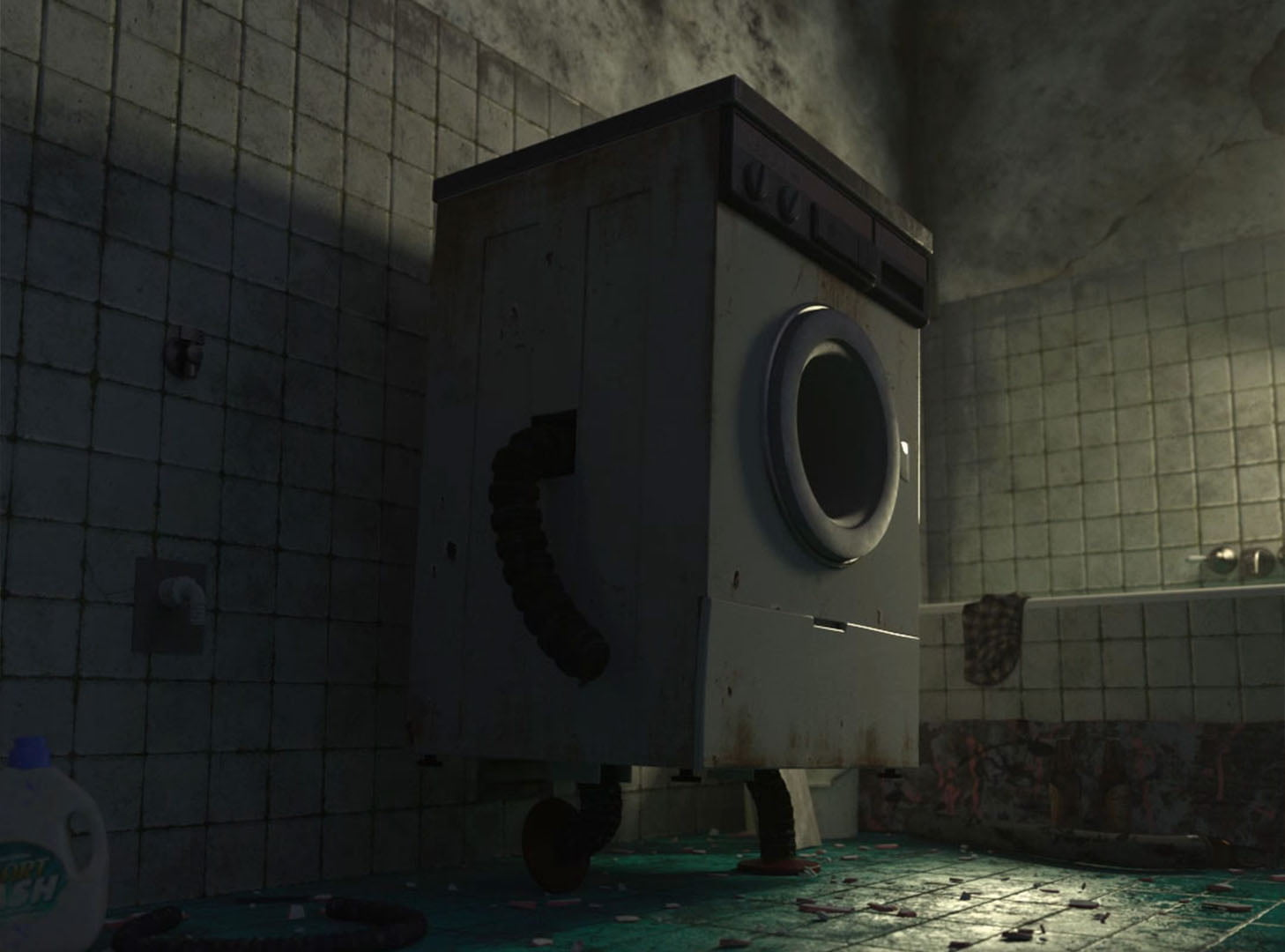 Washing Machine 3D Animation