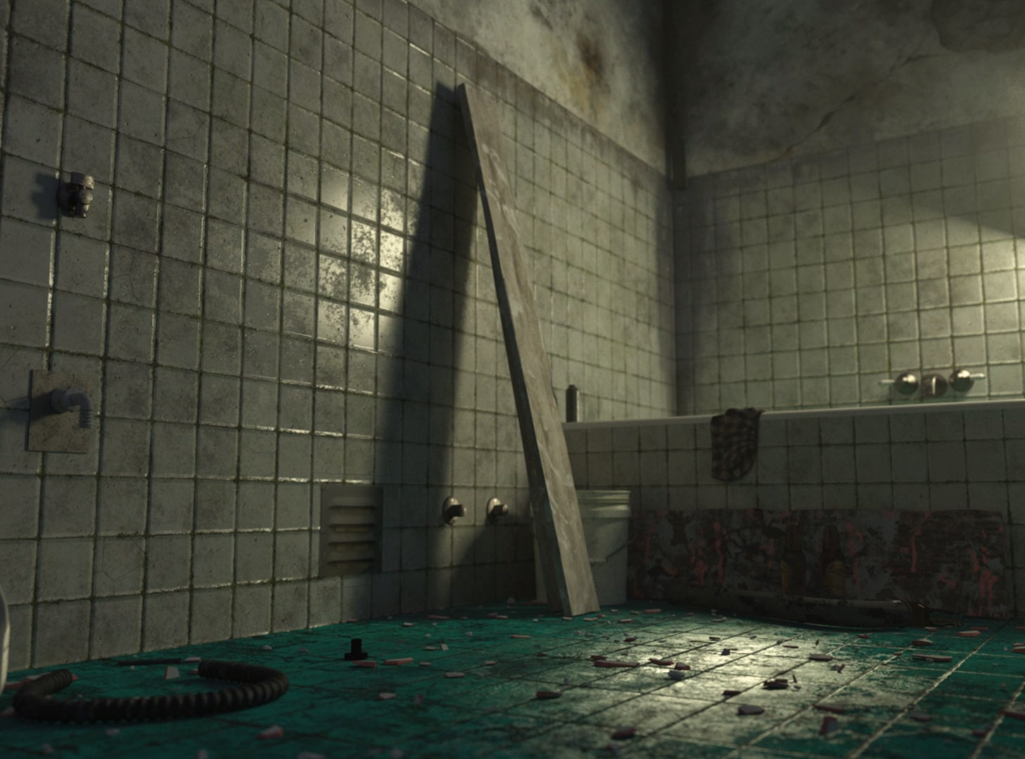 Abandoned Bathroom 3D Scene