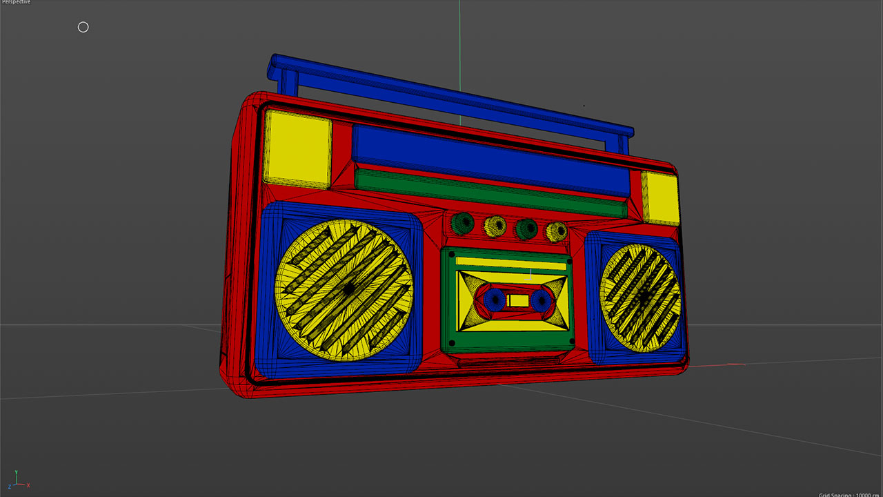 3D Ghetto Blaster Toy Geometry