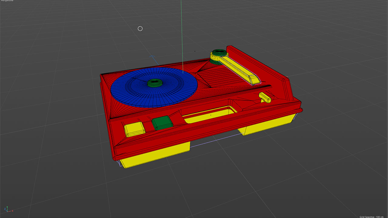 3D Toy Turntable Geometry