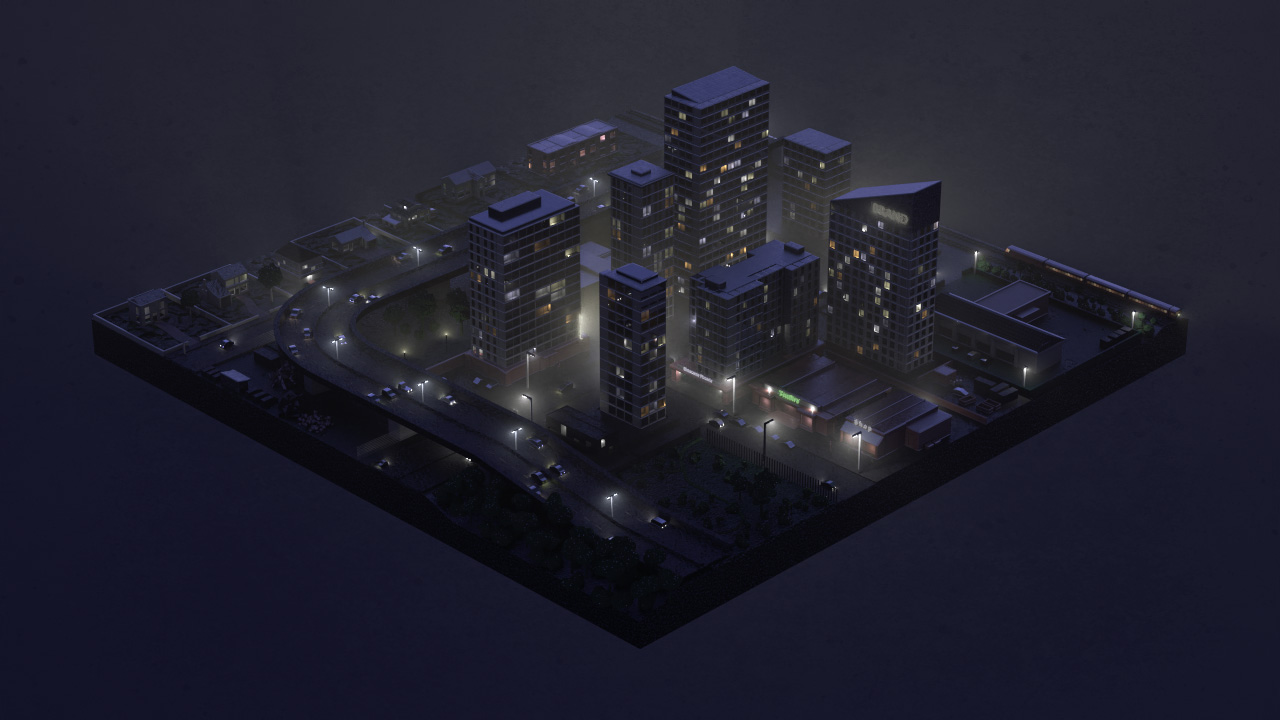 Isometric Lowpoly Cities Animations